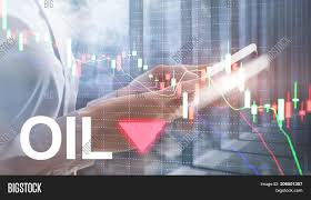 Oil Trend Down Candle Image Photo Free Trial Bigstock