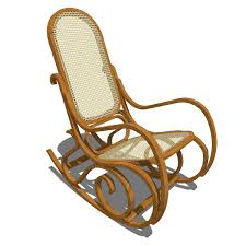 formfonts 3d models amp textures rattan rocking chair drew home within idea 16