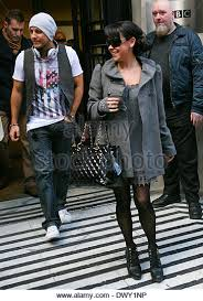 england style steps: lee latchford evans and lisa scott lee of steps outside the bbc radio