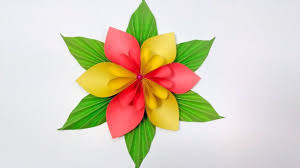 Paper Flower Craft Ideas Easy Origami Paper Flower L Very Easy To Make L Paper Craft
