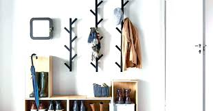wall mount coat rack modern hangers symbol by design mounted large size of clothes with