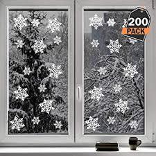 Kompanion 200 Pack Schneeflocken Design Für Winter Und Weihnachten Fensterdeko Set Dekorieren Sie Ihre Fenster Zum Weihnachten Winter Wunderland