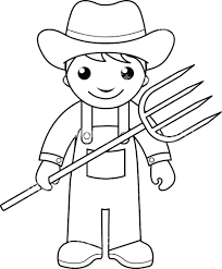 Farmer Coloring Pages Scene Free Farm 17 Christmastoysceocom