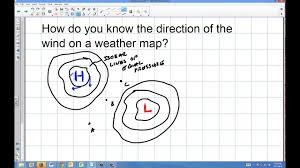 Weather Determining Direction Of Wind On Weather Map