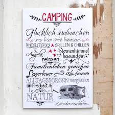 Vintage Schild Camping Wortcollage Dina5