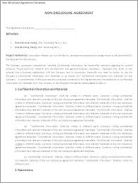 Simple Nda Template Free Confidentiality Agreement Template Sample Law Sample Simple Nda