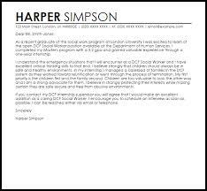 Work Cover Letters Dcf Social Worker Cover Letter Sample Cover Letter Templates