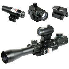 simmons red dot scope. 3-9x40 illuminated tactical rifle scope with red laser \u0026 5 moa dot sight simmons