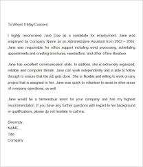 Employment Letter Example Custom EmploymentRecommendationLetterforPreviousEmployee Reference