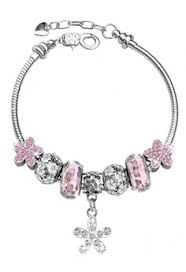 her jewellery pink her jewellery enchanted flower charm bracelet pink he581ac0rdr4my 1