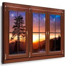 Wandbild Fenster Mit Ausblick