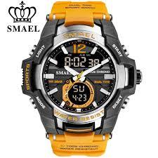 2019 smael sport watch men top luxury brand military 50m waterproof wristwatch clock mens led digital watches relogio masculino