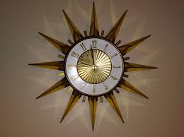 16 sunburst wall clock mid century modern elgin eames atomic mcm vintage 1 of 5 see more
