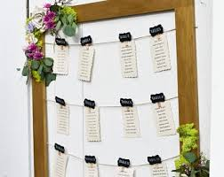 Wedding Seating Chart Frame Wedding Seating Chart Frame Etsy
