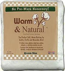 Amazon.com: Warm Company Batting 72-Inch by 90-Inch Warm and ... & Warm Company Warm Company Warm & Natural Cotton Batting Queen Size 90