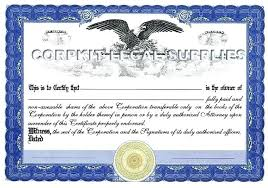 Template For Stock Certificate Corporate Stock Certificate Template Free Bond Sample