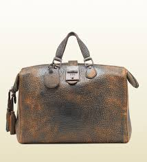 gucci bags leather. gucci | men goldmark grainy leather duffle bag men\u0027s bags