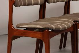 mid century od 49 teak dining chairs by erik buch for oddense scheme of wooden dining