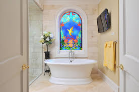 bathroom window designs. Stained Glass Window In Bathroom Designs P