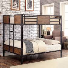 Clapton Industrial Full over Bunk Bed by Furniture of America | FurniturePick