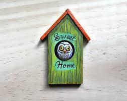 owl office decor. little owl kitchen magnet office decor driftwood refrigerator sweet home o