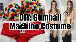 diy gumball machine costume rave inspired