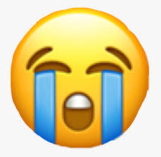 emoji #crying #cryingemoji #sad #tears #freetoedit - Sticker Emoji Iphone  Png, Transparent Png , Transparent Png Image - PNGitem