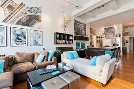 White And Brown Sofa Wooden Floor In Fresh Living Room Design Image. Fresh  And Contemporary New York Loft ...