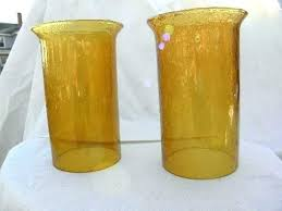 replacement glass chimney globes vintage hand blown amber glass hurricane shades pillar candle lamp chimneys globes