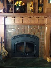 craftsman style handmade tile from north prairie tileworks make this fireplace tile surroundtiled
