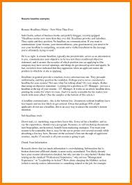 Resume Headline Examples Resume Headline Examples Examples Brief Title Resume