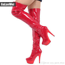 2019 new over the knee long boots women y platform boots snow boot man pole shoes zip thigh high boots 15cm womens ankle boots leather boots for