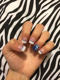 Browning Symbol Nail Designs Nails White Tips With Blue Stripe And Browning Symbol Camo