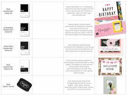 5 Black Ink Pads Explained Stampinbuds Papercrafts