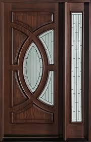 Modern Front Door Custom Single With 1 Sidelite Solid Wood