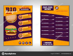 Design Fast Food Menu Fast Food Menu Brochure Design Vector Template In A4 Size