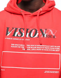 Jaden Smith Vision Tour Hoodie Red