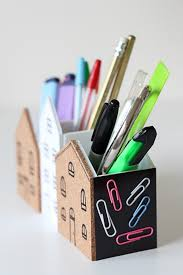 cute diy desk organizer it even has cork and magnets space for putting little notes