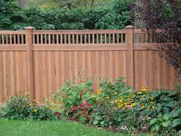 Cedar Grain Vinyl Fence Interstate Visions