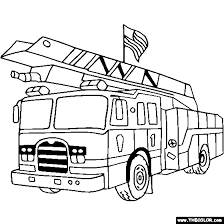 Free Coloring Pages Trucks Letscoloringpagescom Usa Fire Truck
