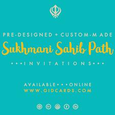 Sukhmani Sahib Path Invitations Available Online At Gidcards