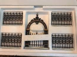 wrought iron fence victorian. Dept 56~Heritage Village~\u201dVictorian Wrought Iron Fence \u0026 Gate\u201d~# Wrought Iron Fence Victorian