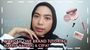 wardah one brand tutorial makeup natural cepat untuk kantor kondangan pakai makeup lokal
