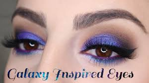 galaxy inspired eye makeup tutorial high end vs makeup