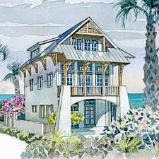 Waterfront House Plans  Waterfront Home Plan Provides Relaxation Elevated Home Plans
