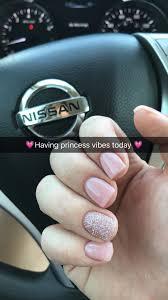 Short Nail Designs With Glitter Princess Pink Glitter Nails Short Acrylic