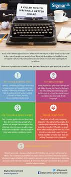 recruitment hiring archives sigmar recruitment 5 killer tips to writing a better job ad infographic