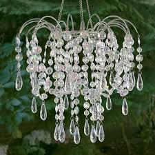 sns home wedding décor favors event party ornaments crystal chandelier with light kit plug in 11 5 x 12in