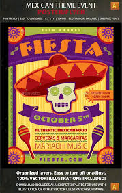 Flyers Theme Mexican Theme Event Poster Or Flyer Template Perfect For