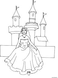 Coloriage Chateau Princesse Disney Dessin Coloriage Princesse Et Chateau L